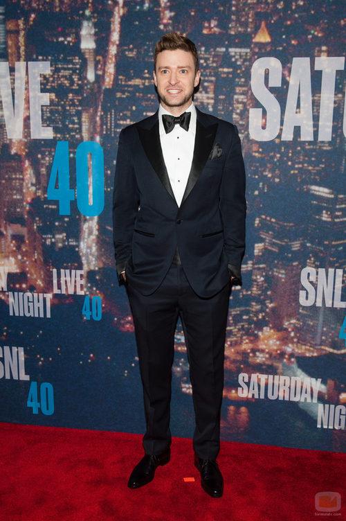 Justin Timberlake en la fiesta de los 40 años de 'SNL'