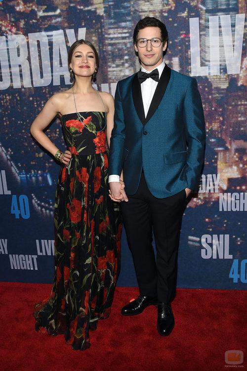 Andy Samberg y Joanna Newsom en la fiesta de 'SNL'