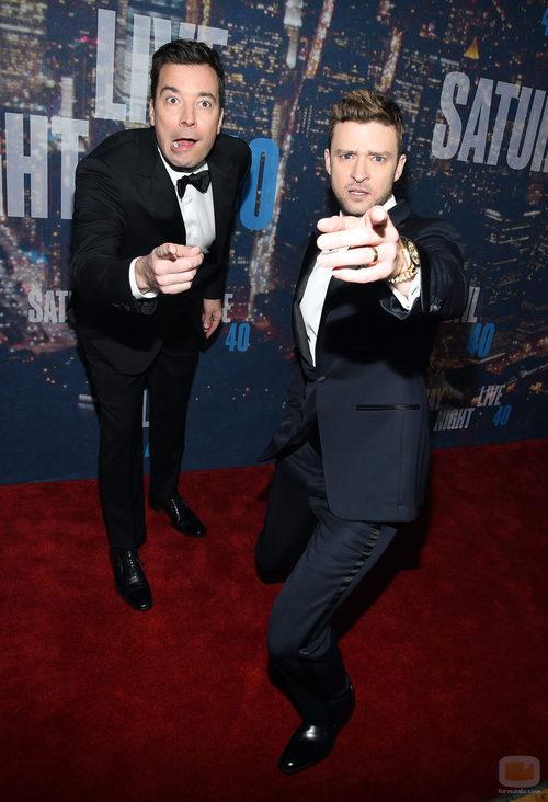 Jimmy Fallon y Justin Timberlake en el 40 'SNL'