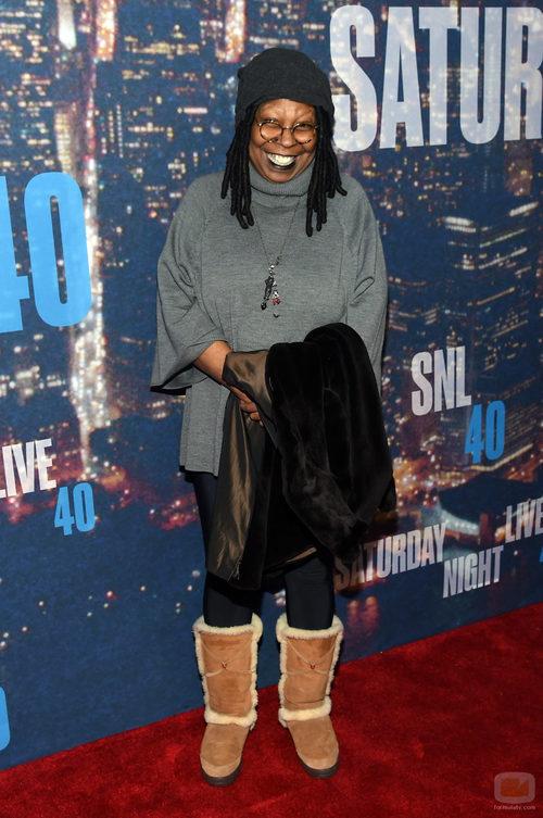 Whoopi Goldberg en la fiesta 40 aniversario 'SNL'