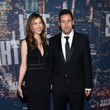 Adam Sandler y su esposa en el 40 aniversario de 'Saturday Night Live'