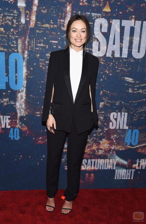 Olivia Wilde en la fiesta de 'Saturday Night Live'