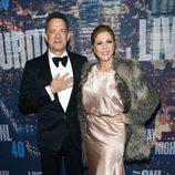 Tom Hanks y Rita Wilson en la fiesta de los 40 años de 'Saturday Night Live'