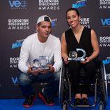 Frank Cuesta y Teresa Perales en los Born to be Discovery Awards 2015