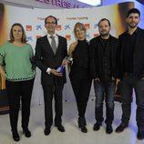 El equipo de 'Órbita Laika' con su galardón en los premios Zapping 2014