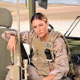 La actriz madrileña Blanca Suárez caracterizada como un soldado en 'Los nuestros'
