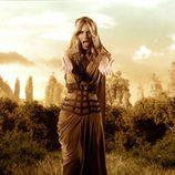 """Edurne, toda una guerrera helénica en el videoclip de """"Amanecer"""""""