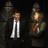 Emily Deschanel y David Boreanaz en la décima temporada de 'Bones'