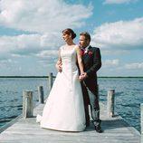 Toñi y Laurent de 'Casados a primera vista' posan tras su boda