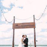 Toñi y Laurent en la sesión de fotos de su boda en 'Casados a primera vista'