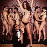 Anabel Pantoja desnuda en Primera Línea con Torito y otros compañeros
