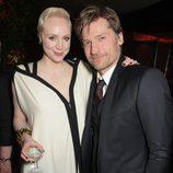 Gwendoline Christie y Nikolaj Coster-Waldau en el after party de la premiere de la quinta temporada de 'Juego de tornos'
