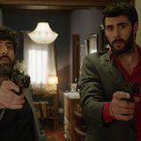 Manolo y Fermín en el primer episodio de 'Aquí Paz y después Gloria'