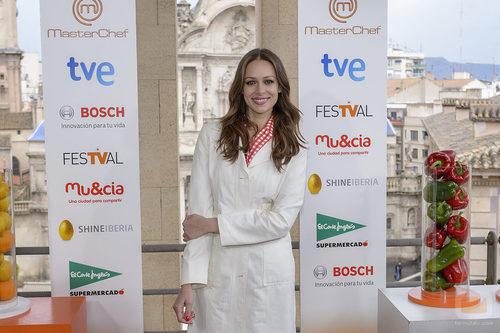 Eva González en la presentación de 'MasterChef 3' en el FesTVal de Murcia