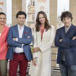 Eva y el jurado en la presentación de 'MasterChef 3' en el FesTVal de Murcia