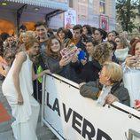 María Castro en la alfombra naranja de Murcia