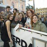 Celia Freijeiro en la alfombra naranja de Murcia