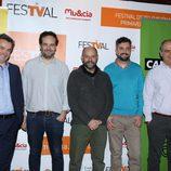 Joseba Fiestras, Jorge Ortíz, Javier Cansado, Álex Mendibil y Miguel Salvat