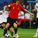 Fernando Torres en la final de la Eurocopa