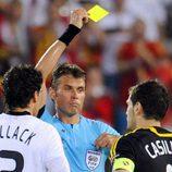 Tarjeta amarilla para Ballack y Casillas