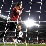 Fernando Torres celebra el gol de España