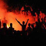 Madrid arde durante la celebración de la Eurocopa 2008