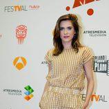 María León en el photocall de 'Allí abajo'