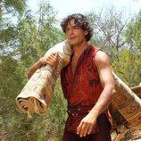 Marco Bocci con una alfombra en 'Las mil y una noches'