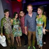 Parte del reparto de 'Modern Family en los Nickelodeon's 28th Annual Kids' Choice Awards