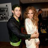 Nick Jonas y Jennifer López en los Nickelodeon's 28th Annual Kids' Choice Awards