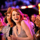 Emma Stone en el público en los Nickelodeon's 28th Annual Kids' Choice Awards