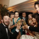Algunos actores brindando en la Cena de Corresponsales de la Casa Blanca