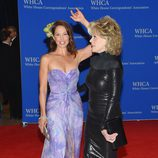 Ashley Judd y Jane Fonda en la Cena de Corresponsales de la Casa Blanca 2015