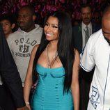 Nicki Minaj durante el combate entre Mayweather y Pacquiao