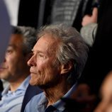 Clint Eastwood durante el combate entre Mayweather y Pacquiao