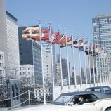 Jesús Hermida en la sede de Naciones Unidas en Nueva York en los 70