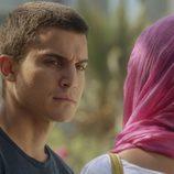 Morey y Fátima durante la cuarta entrega de la segunda temporada de 'El Príncipe'