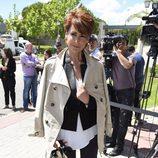 Irma Soriano en el velatorio del periodista Jesús Hermida