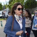 Ana Rosa Quintana en el velatorio del periodista Jesús Hermida