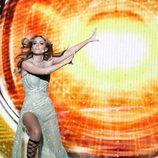 Edurne bailando durante el primer ensayo del 'Festival de Eurovisión 2015'