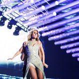 Edurne luce su cambio de vestido durante el primer ensayo del 'Festival de Eurovisión 2015'