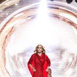 Edurne, con uno de los vestidos de la actuación del 'Festival de Eurovisión 2015'