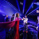 Miryam Benedited da indicaciones a Edurne en el primer ensayo de 'Festival de Eurovisión 2015'