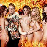 Vivi Figueredo, Begoña Alonso, Malena Gracia y Nani Gaitán, desnudas