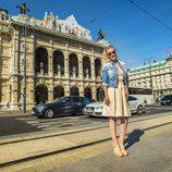 Edurne disfruta de Ópera de Viena, sede del Festival de Eurovisión 2015