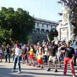 El Flashmob de los eurofans españoles en Viena
