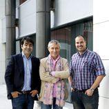 Miguel Toral, Melchor Miralles y Antonio Pampliega en la presentación de 'Infiltrados'