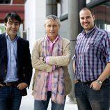 Miguel Toral, Melchor Miralles y Antonio Pampliega en la presentación de 'Infiltrados' de Cuatro