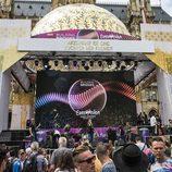 Edurne ensaya el concierto del Eurovision Village en Viena