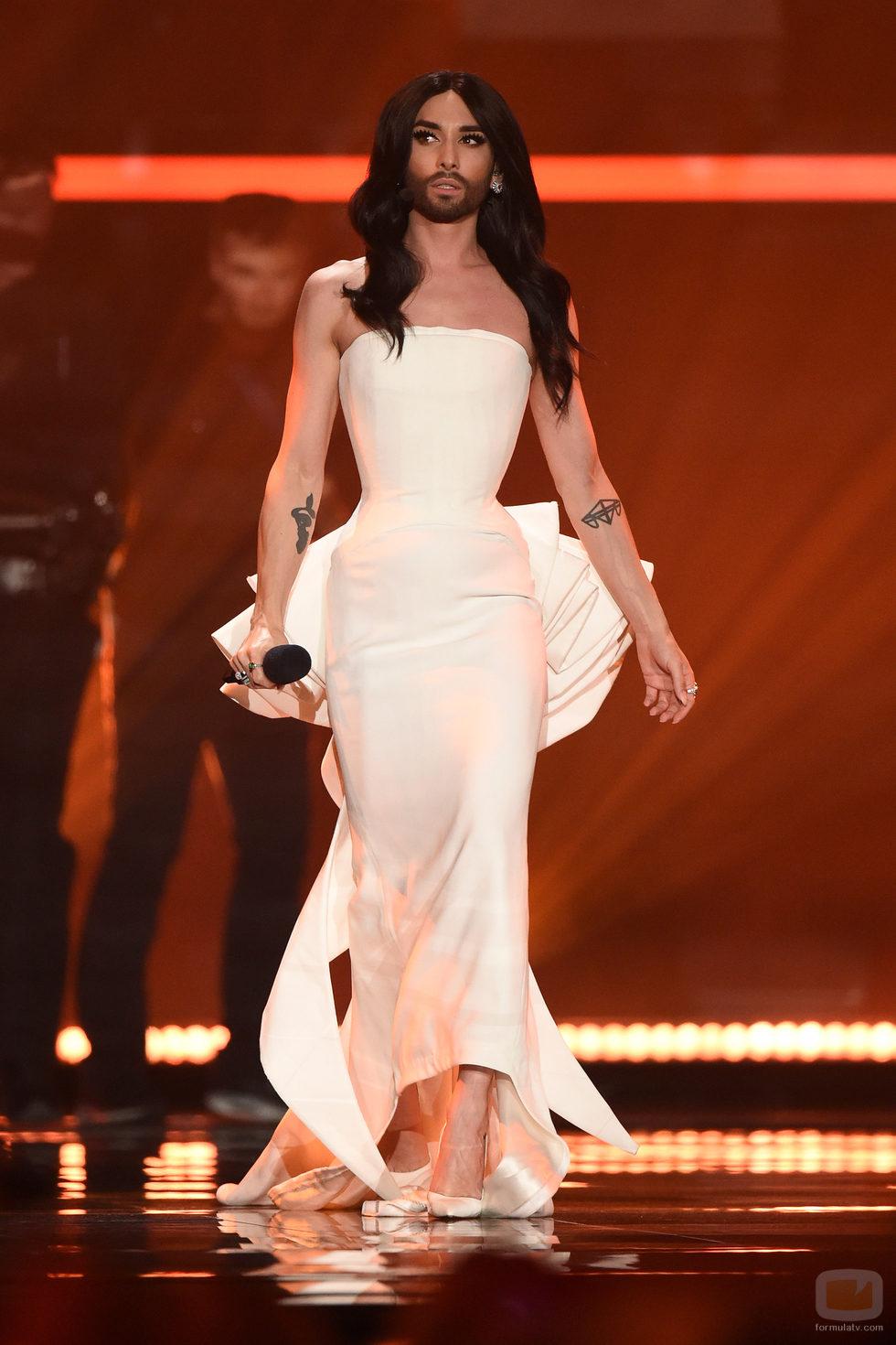 Conchita Wurst en la primera semifinal de Eurovisión 2015